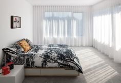 Affordable Portland home master bedroom with ikea bed and tuuli duvet