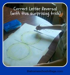 "Correct Letter Reversal. Really good idea to help ""rewire"" the brain and increase concentration, too."