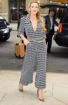 On Blake Lively: Christian Louboutin shoes