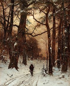View On the path By Ludwig Munthe; 82 x 66 cm; Access more artwork lots and estimated & realized auction prices on MutualArt. Snow Scenes, Gothic Art, Winter Landscape, Tree Art, Painting & Drawing, Painting Clouds, Painting Inspiration, Fine Art Photography, Landscape Paintings
