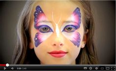 Easy Butterfly Video Tutorial by Jinny—Face Painting Tips Tutorial maquillaje fácil de mariposa