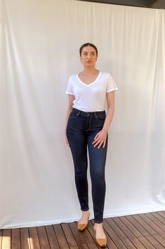 Hoxton High Rise Ankle Skinny Jeans Paige Denim, Size Model, Stretch Denim, Normcore, Skinny Jeans, Ankle, Legs, High Point, Sweaters