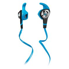 iSport Earphones - designed to provide a secure, customized fit during times of increased activity. Water resistant construction, and antimicrobial ear tips, they'll stay attached to your sweaty self for the entire workout. Need to change songs or take a call during your run? The ControlTalk in-line mic and remote gives you full control without taking your head out of the game. Just wash your iSports off to keep them fresh for next time.