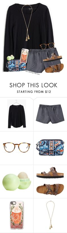"""""""A cold day with a warm breeze"""" by tinyblueowls ❤ liked on Polyvore featuring Madewell, MANGO, The Row, Vera Bradley, Eos, Birkenstock, Casetify, J.Crew and tinybluebestsets"""