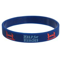 Help For Heroes Charity Wristband Friendship Band Charity Support Multiple Size