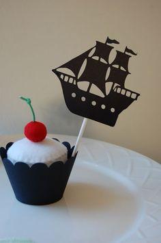 Pirate Ship Cupcake Topper