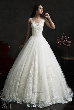 Amelia Sposa 2015 Wedding Dress Style: Elza - Heart Over Heels #bridal #designer