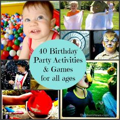 Birthday Party Activities and Games