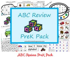 Free ABC Review Printable Pack