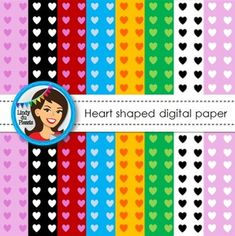 Valentine's Day Digital Paper {Hearts}. Free