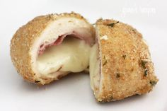 Chicken Cordon Bleu-    Makes: 12 pieces • Serving Size: 1 piece •  Calories: 222.7 • Fat: 9.3 g • Protein: 28.4 g • Carb: 5.2 g • Fiber: 0.6 g