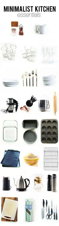 Minimalist Kitchen Essentials | Living In An Apartment