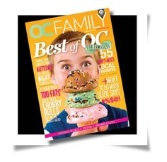 OC Family magazine February 2013 Best of OC for families // art direction