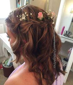 half up bridesmaids hairstyle