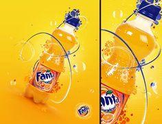 Fanta Ad placement 3d, Design