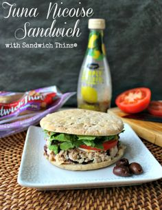 Renee's Kitchen Adventures: Tuna Nicoise Sandwich with Sandwich Thins® and a Giveaway!!