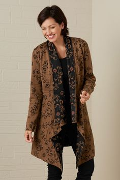 Raquel Jacquard Alpaca Fair Trade Long Jacket
