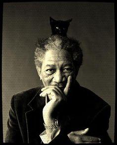 Morgan Freeman & Cat