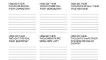 Writing Worksheet Wednesday: Thoughts