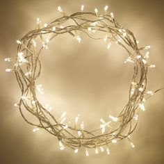Indoor Fairy Lights with 100 Warm White LEDs on 8m of Clear Cable by Lights4fun: Amazon.co.uk: Lighting