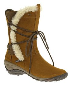 Look at this Cushe Tan Allpine Dream Waterproof Suede Boot on #zulily today!