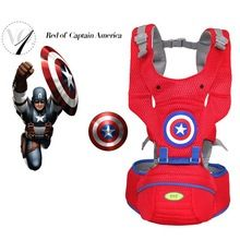 NEW Captain America baby carrier backpack, Ergonomic Carrier 360 Multifunctional Baby Wrap Slings for Babies Sale Price:  US $33.58