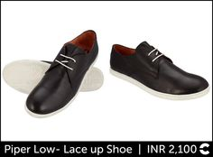 Piper Low- Lace up Shoe  INR 2,100  Shop: http://www.freecultr.com/men/men-shoes-footwear/piper-low-low-ankle-lace-up-shoes-3.html?shoes_color=Jet+Black