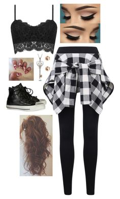 """"" by kdicks on Polyvore featuring River Island and Converse"