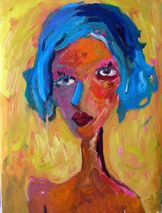 Large Original Modern Art Abstract impressionist portrait Painting