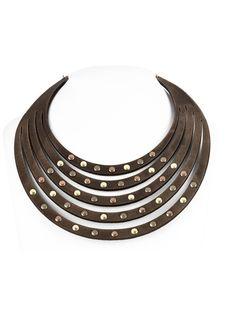 Necklace - Leather Rivets by DANIELA ZAGNOLLI   Flechada