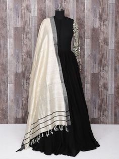 Black Color Silk Dressy Anarkali Suit, designer, anarkali suit, party wear, black color, silk