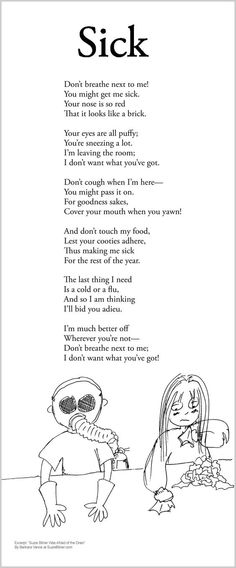 Funny children's Poem about health and getting sick. Great for school and classroom activities. common core  1st grade,  2nd grade,  3rd grade reading: