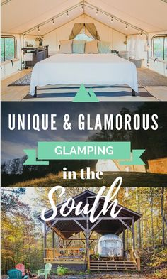 "Glamping has become all the rage in the travel world. What is this exactly? It's ""glamorous camping"". In other words, it's like camping 2.0, the bigger, better, more luxurious version of camping. Glamping gives you that great outdoor,..."