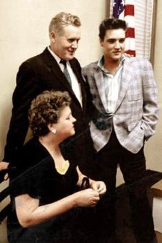 Elvis, Vernon and Gladys. 1958 Army Induction