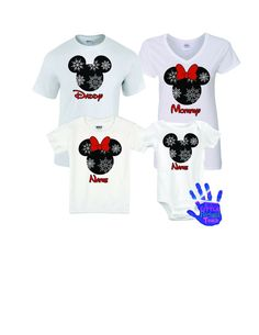 Personalized Disney Family Vacation Shirts. Personalize with any name. Contact me with the name you would like. Shown are the Christmas Disney family vacations shirts. . Shirts brands: Oneises are Car