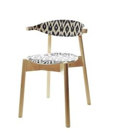 Fabric-covered chair