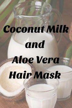 Coconut Oil Beauty, Dry Coconut, Coconut Oil For Skin, Coconut Milk Hair Mask, Aloe Vera For Skin, Aloe Vera Skin Care, Aloe Vera Gel, Masque Aloe Vera, Aloe Vera Face Mask