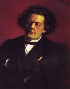 Portrait of the pianist, conductor and composer Anton Grigorievich Rubinstein (1881) - Ilya Repin
