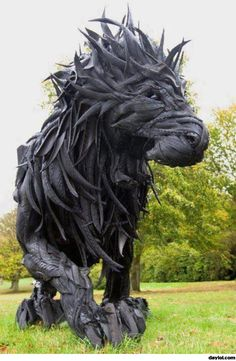 Cool sculpture from old tires - DayLoL.com - Your Daily LoL!