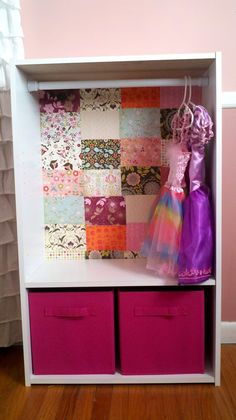 Bookshelf turned costume closet