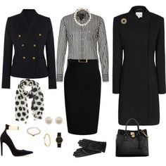 """""""Office Attire"""" by pkoff on Polyvore - love it! Especially the shoes!"""