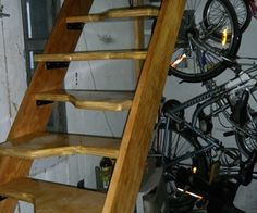 How to build Alternating Tread Stairs to access an attic instead of a rickety pull down stairs!