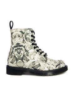 Dr Martens Core Beckett Skull and Rose Print 8-Eye Boots. I think they're cute