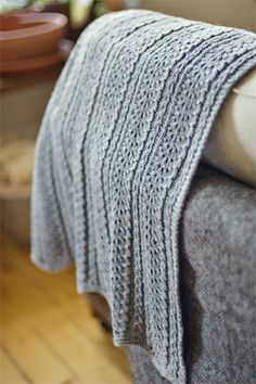 Love the detail in this baby blanket from Brooklyn Tweed.