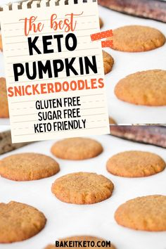 How to make easy keto pumpkin cookies -- the best low carb cookie recipe for fall and Thanksgiving!