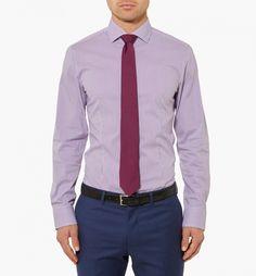 Purple Stripe Shirt In Purple Combo - Calibre