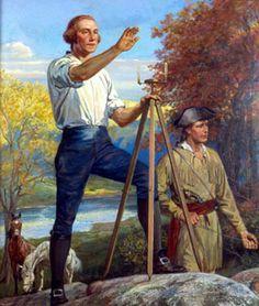 "George Washington ""The Young Surveyor"" by Walter Haskell Hinton American Presidents, American War, Us Presidents, Early American, American History, Native American, British History, Young George Washington, Washington Art"