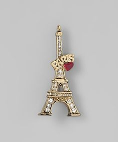 Antique Gold Eiffel Tower 'Paris' Pin by Ten79
