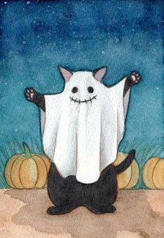 Art Hippie, Art Du Croquis, Art Du Collage, Arte Indie, Art Mignon, Art Et Illustration, Cat Illustrations, Halloween Illustration, Wow Art
