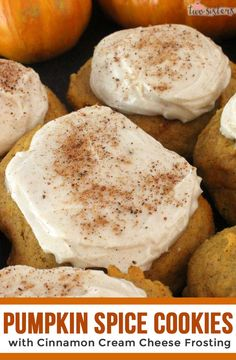 Our Pumpkin Spice Cookies with Cinnamon Cream Cheese Frosting are an old family recipe that only gets better with age - they taste just like pumpkin pie. Pumpkin Cookie Recipe, Easy Pumpkin Pie, Pumpkin Spice Cookies, Pumpkin Pie Recipes, Tart Recipes, Cookie Recipes, Dessert Recipes, Pumpkin Foods, Desserts